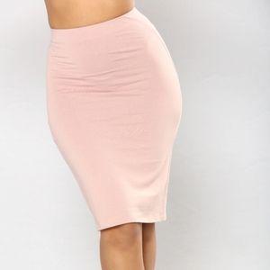 Fashion Nova Mauve Basic Bodycon Skirt